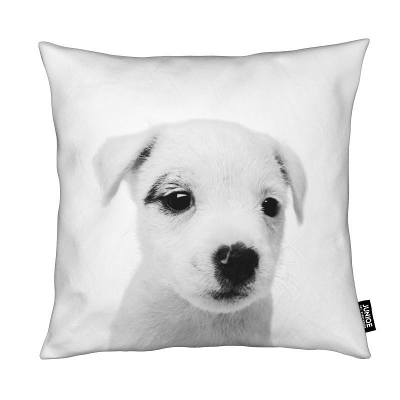Chiens, Art pour enfants, Noir & blanc, Puppy III Classic coussin