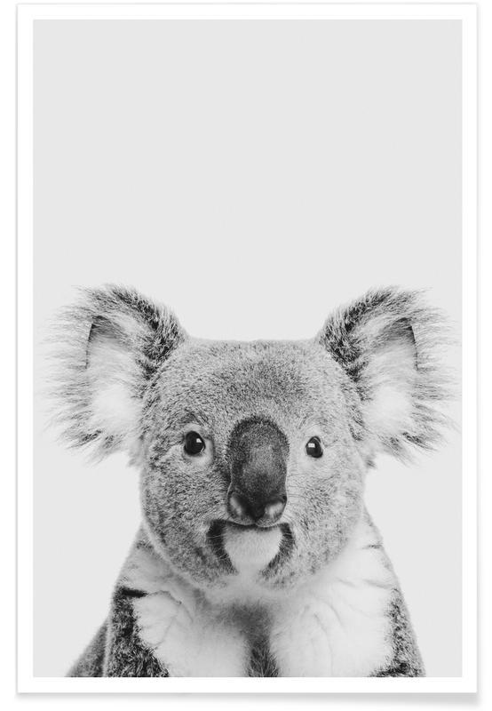 Art pour enfants, Koalas, Noir & blanc, Koala Classic affiche