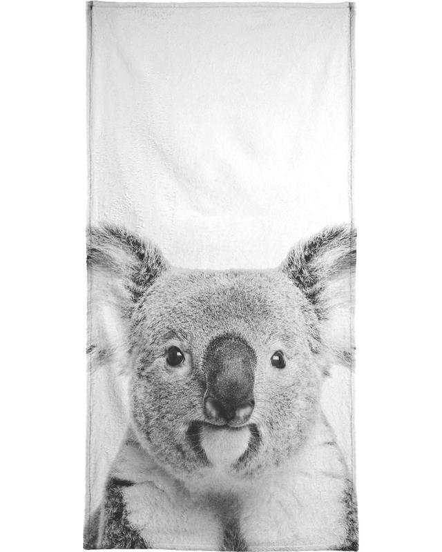 Schwarz & Weiß, Kinderzimmer & Kunst für Kinder, Koalas, Koala Classic -Strandtuch