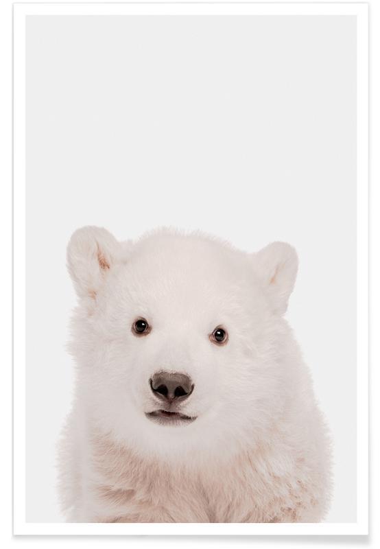 Art pour enfants, Ours, Noël, Polar Bear affiche
