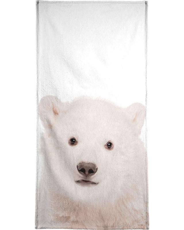 Ours, Noël, Art pour enfants, Polar Bear serviette de plage