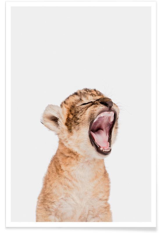 Børneværelse & kunst for børn, Safari dyr, Sleepy Leopard Plakat