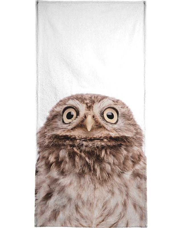 Noël, Chouettes, Art pour enfants, Owl serviette de plage