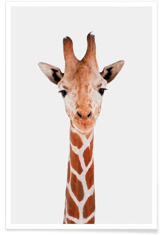 Art pour enfants, Animaux de safari, Giraffe affiche