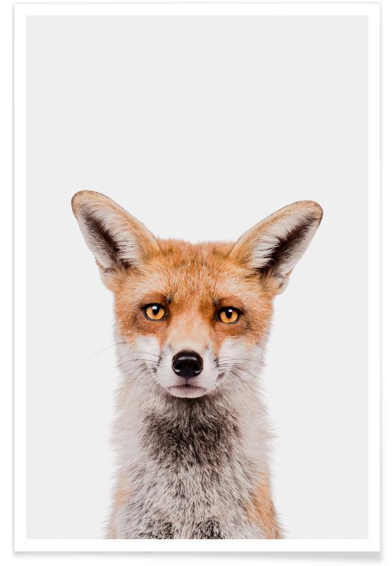 Renards, Art pour enfants, Fox affiche