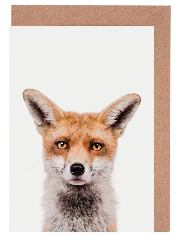 Füchse, Kinderzimmer & Kunst für Kinder, Fox -Grußkarten-Set