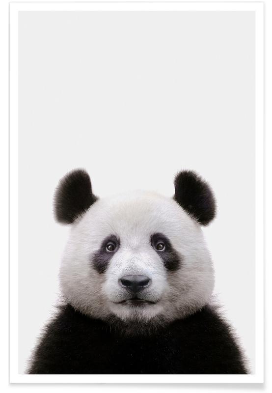 Black & White, Nursery & Art for Kids, Panda Poster
