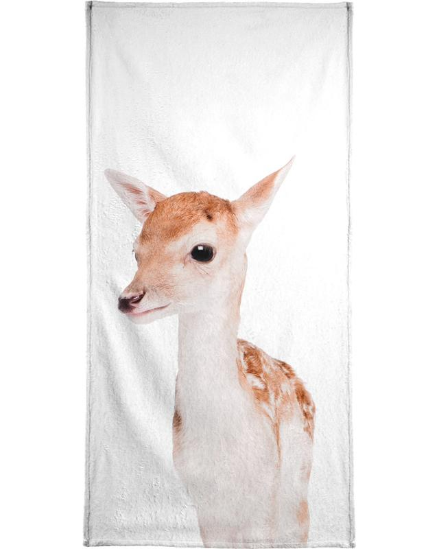Christmas, Deer, Nursery & Art for Kids, Fawn Beach Towel