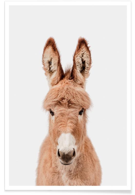 Børneværelse & kunst for børn, Donkey Plakat