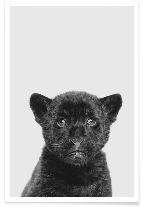 Sort & hvidt, Børneværelse & kunst for børn, Panther Classic Plakat