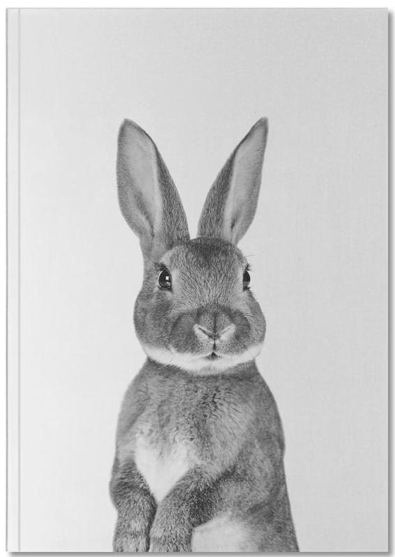 Pâques, Noir & blanc, Lapins, Art pour enfants, Paws & ClawsBunny Notebook