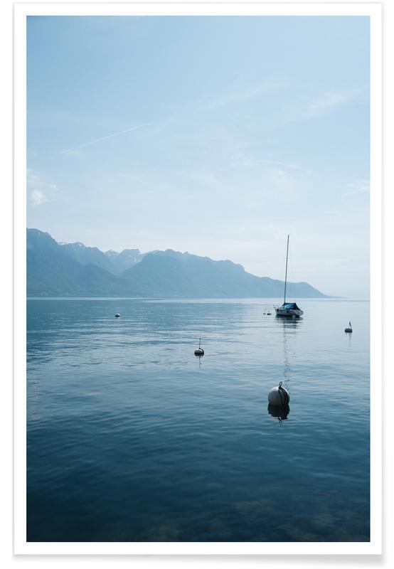 Oceanen, zeeën en meren, Peaceful Lake poster