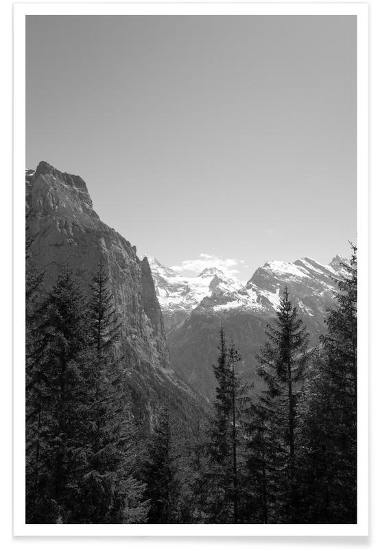 Berge, White Tops -Poster