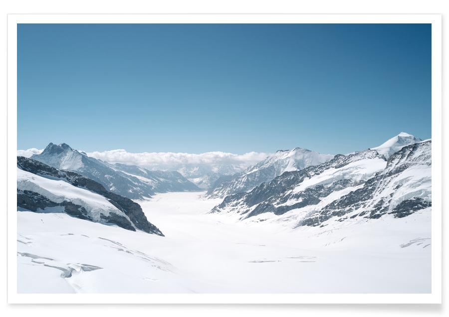 Mountains, Snow World Poster