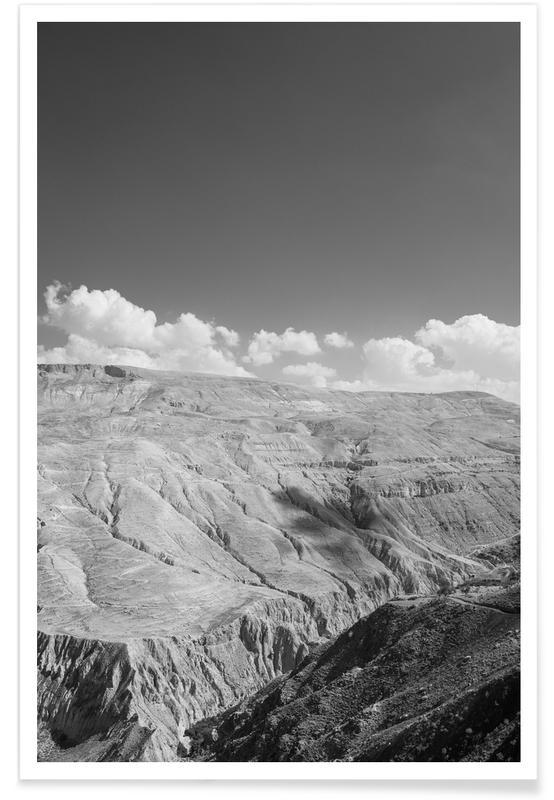 Mountains, Desert Valley Poster
