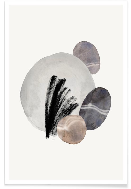 Noir & blanc, Pastels II affiche