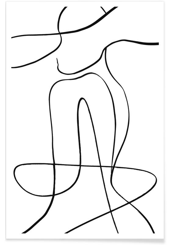 Sort & hvidt, Icon Plakat