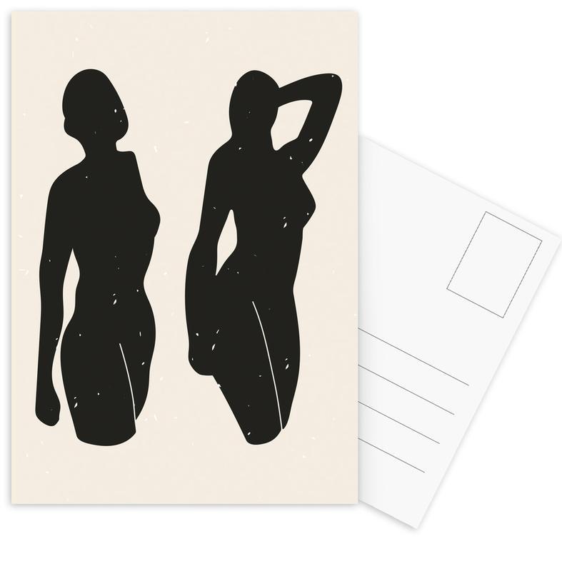 Körperformen, Schwarz & Weiß, Akte, Venus-Aphrodite -Postkartenset