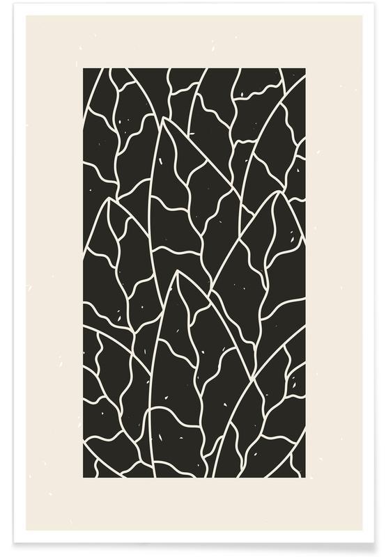 Feuilles & Plantes, Leaves Puzzle affiche