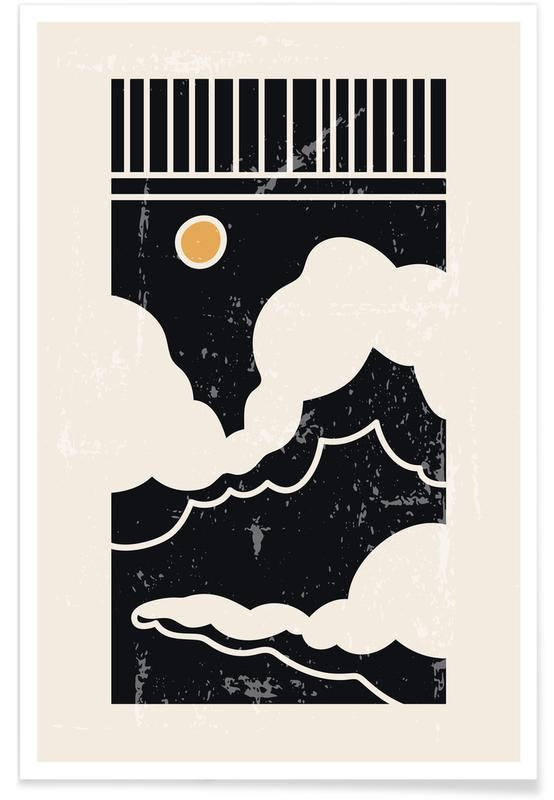 Abstract Landscapes, Skies & Clouds, Sun Through Clouds Poster