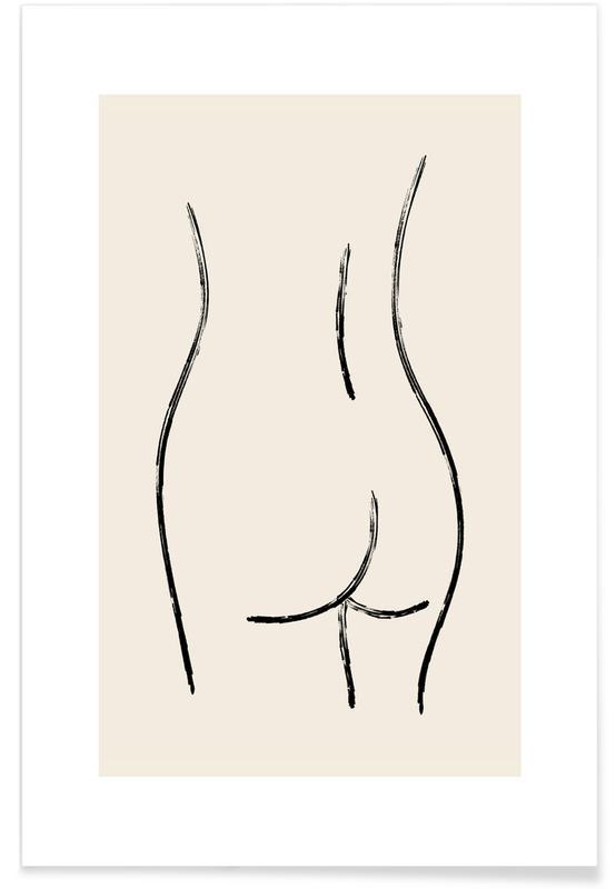 Détails corporels, Nude On Stone Backdrop affiche