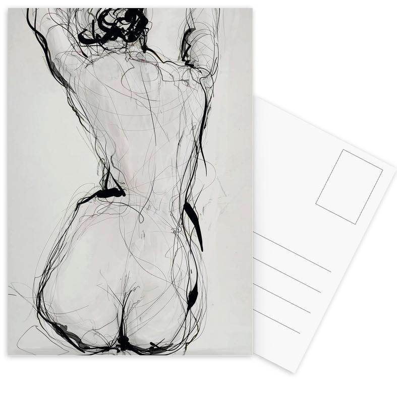 Körperformen, Akte, Nude -Postkartenset