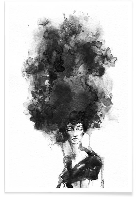 Portretten, Lucht en wolken, Head in the Clouds poster