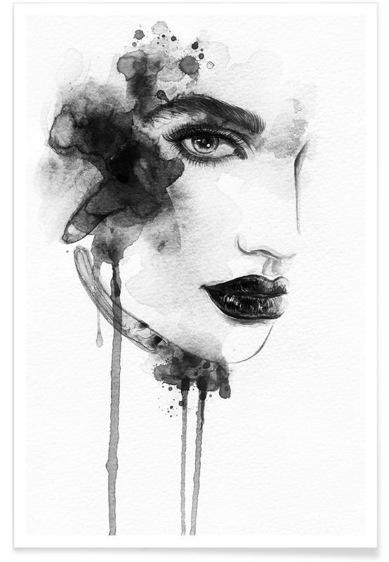 Portretten, Zwart en wit, Rosemary poster