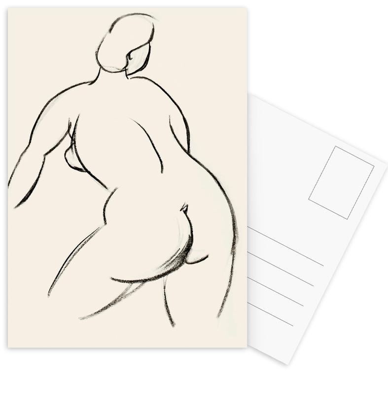 Körperformen, Akte, Extended Back -Postkartenset