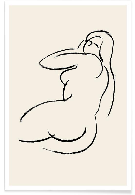 Nus, Détails corporels, Reclined affiche