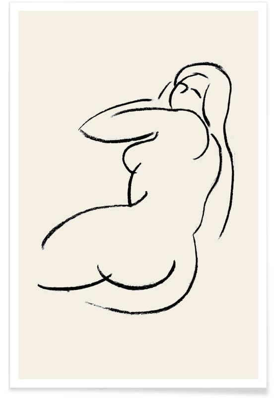 Nude, Body Close-Ups, Reclined Poster