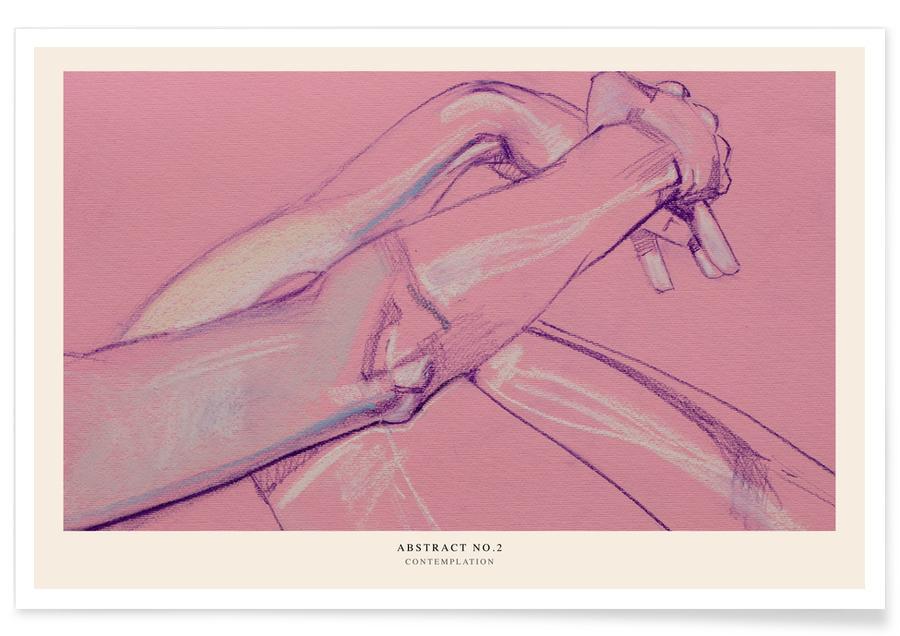 Körperformen, Contemplation -Poster
