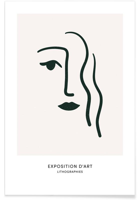 Portraits, Lithograph I Poster