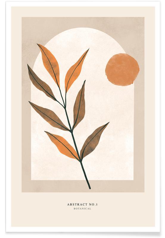 Feuilles & Plantes, Botanical affiche