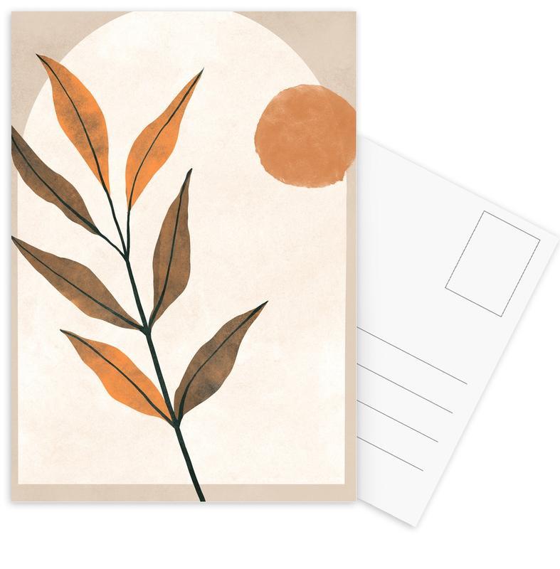 Blätter & Pflanzen, Botanical -Postkartenset