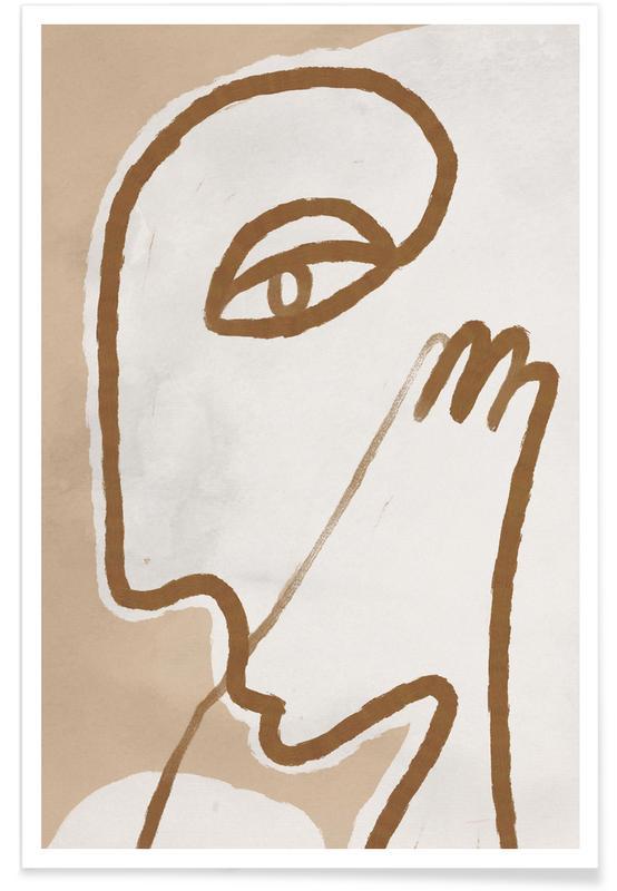 Portraits, Raised Poster