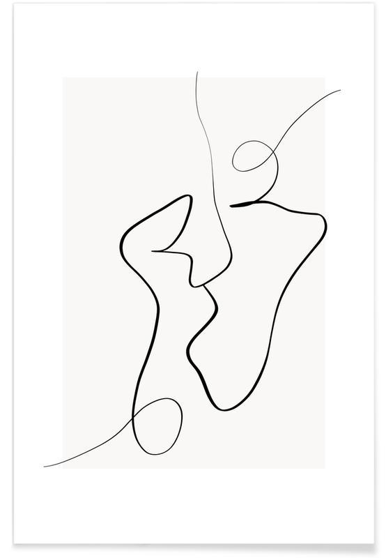 Sort & hvidt, Connected II Plakat
