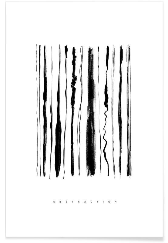 Noir & blanc, Abstraction affiche