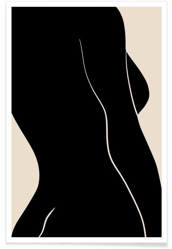 Noir & blanc, Silhouette affiche