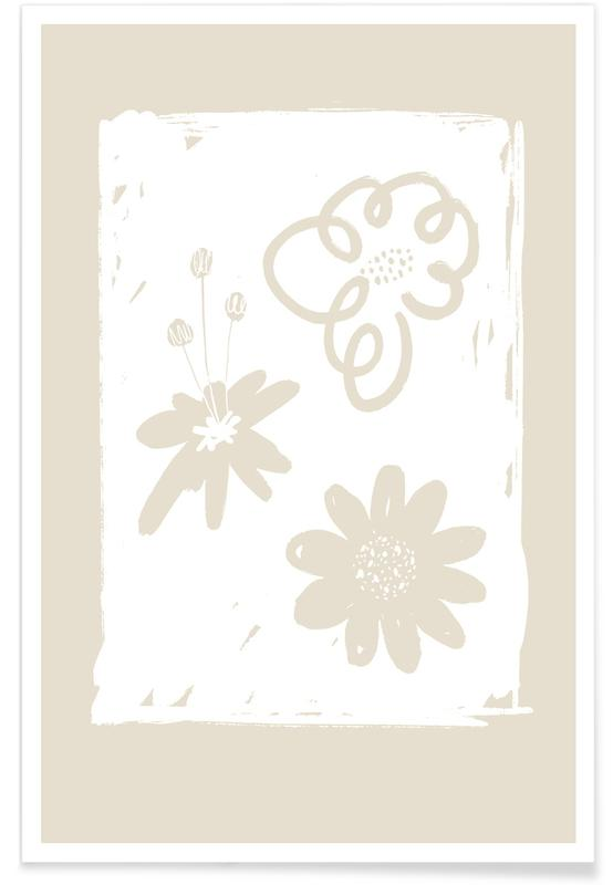 , Wildflowers White Poster