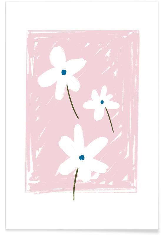 , Dasies Pink -Poster