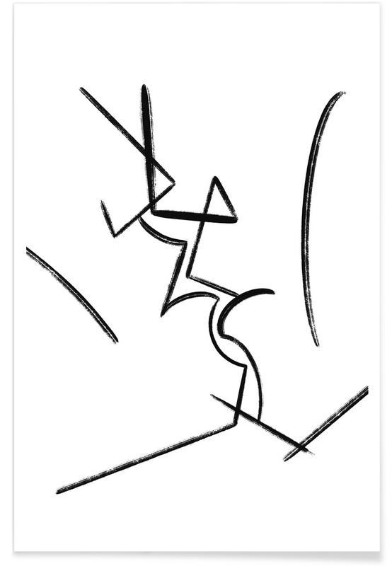 Zwart en wit, Body close-ups, Kiss poster