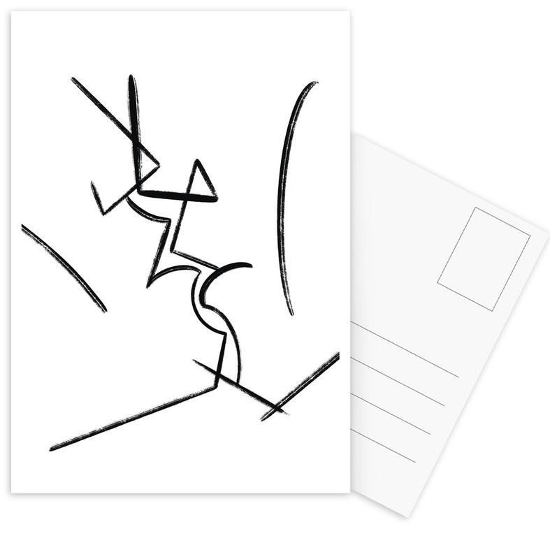 Schwarz & Weiß, Körperformen, Kiss -Postkartenset