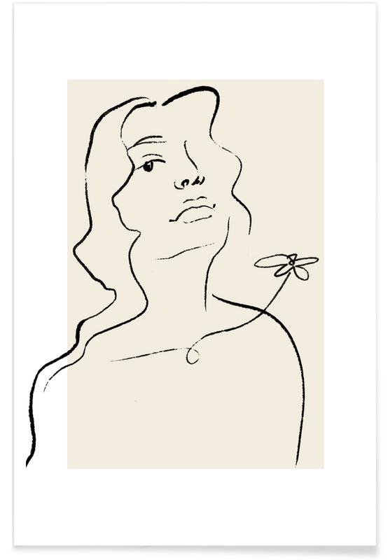 Portraits, Flora Poster
