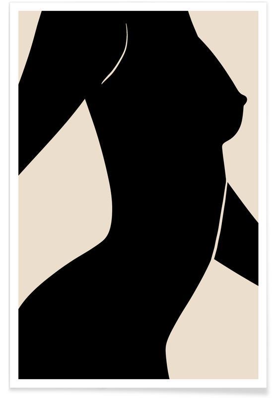 Sort & hvidt, Silhouette II Plakat