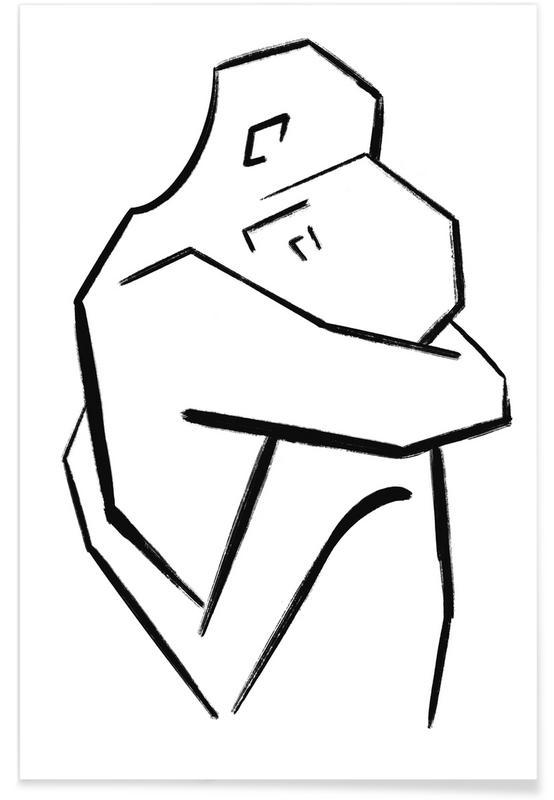 Porträts, Schwarz & Weiß, Embrace -Poster