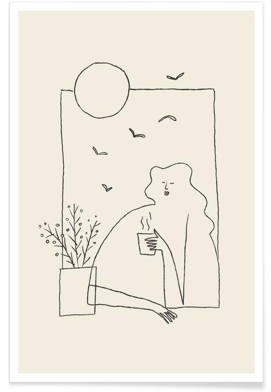 Porträtt, Morning Coffee Poster