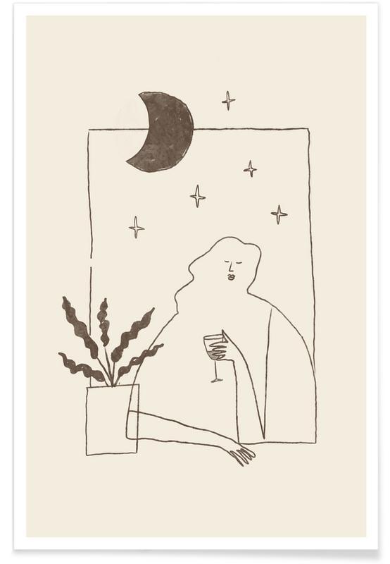 Portraits, Evening Merlot Poster