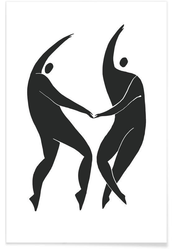 Portraits, Black & White, Dancing Figures Poster