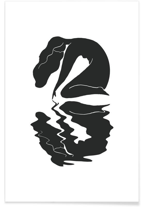 Portraits, Noir & blanc, Blurred affiche